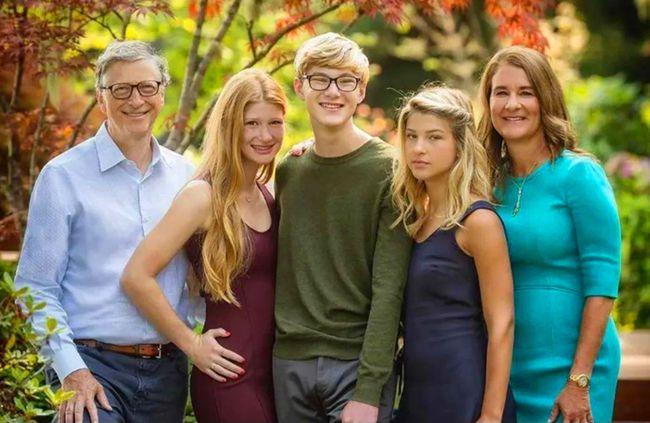 比尔盖茨有多少美金和人民币 和有前妻几个孩子?